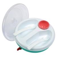 Набор посуды с подогревом: тарелка, ложка, вилка, 2 секц, Камера 10226