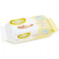 Влажные салфетки Huggies Elite Soft без отдушки, 64 шт