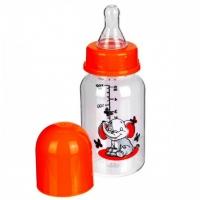 Бутылочка с силиконовой соской, 125 мл, Бусинка 1101