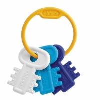 """Игрушка-прорезыватель """"Ключи на кольце"""" ГОЛУБЫЕ, Chicco  63216.200"""