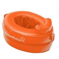 Надувной дорожный горшок PocketPotty со смен. пакетами Оранжевый PP-3102R