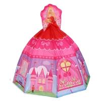 Игровой дом+ 100 шаров ПРИНЦЕССА розовая (136x136x125 см) Calida 710