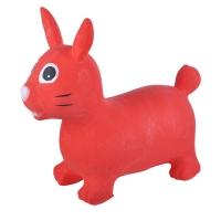 Надувные животные, ЗАЙКА, с насосом, 62х30х50 см, Красный, Spring 19