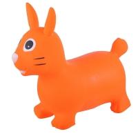 Надувные животные, ЗАЙКА, с насосом, 62х30х50 см, Оранжевый, Spring 22