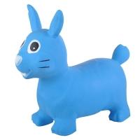 Надувные животные, ЗАЙКА, с насосом, 62х30х50 см, Синий, Spring 21