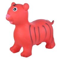 Надувные животные, ТИГРЕНОК, с насосом, 60х30х50 см, Красный, Spring 25