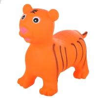 Надувные животные, ТИГРЕНОК, с насосом, 60х30х50 см, Оранжевый, Spring 29