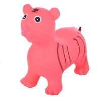 Надувные животные, ТИГРЕНОК, с насосом, 60х30х50 см, Розовый, Spring 27