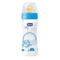 Бутылочка Well-Being Boy, 2 мес + лат. соска, 250 мл, CHICCO 310205005