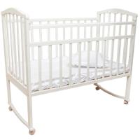 Кровать колесо/качалка Золушка-1 БЕЛЫЙ Агат 52104