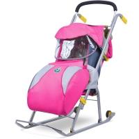Санки-коляска Ника Детям 1 складные с колесом НД1