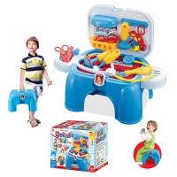 Игровой набор МАЛЕНЬКИЙ ДОКТОР в чемодане-стульчике (79х39,5х56 см) 008-91