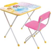 Набор мебели Disney ПРИНЦЕССА (стол+пенал, стул с легкомоющ. тканью) Д2П