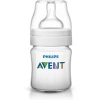 Бутылочка Classic+, 125 мл, соска для новорожд., Avent 80021