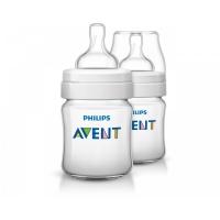 Бутылочка Classic+, 125 мл, 2 шт, соска для новорожд., Avent 80022