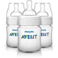 Бутылочка Classic+, 125 мл, 3 шт, соска для новорожд., Avent 80023