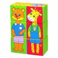 """Игрушка кубики """"Собери картинку"""" (Зоопарк) 340"""