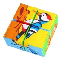 """Игрушка кубики """"Собери картинку"""" (Птицы) Мякиши 239"""