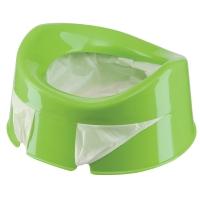Горшок дорожный Happy Baby с набором сменных пакетов (10 шт) GREEN 34004g