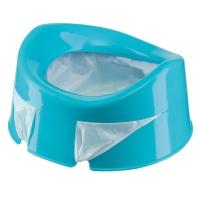 Горшок дорожный Happy Baby с набором сменных пакетов (10 шт) BLUE 34004b