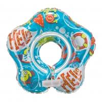 МУЗЫКАЛЬНЫЙ круг для плавания с 3-х месяцев до 15 кг Happy Baby DOLFY 121006D