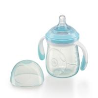 Бутылочка с ручками и антиколиковой соской Happy Baby, 180 мл, Aqua 10011A