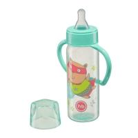 """Бутылочка с ручками Happy Baby """"Baby bottle"""", Mint 10007M"""