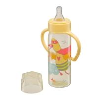 """Бутылочка с ручками Happy Baby """"Baby bottle"""", Yellow 10007Y"""