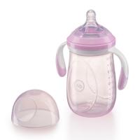 Бутылочка с ручками и антиколиковой соской Happy Baby, 300 мл, Purple 10009P