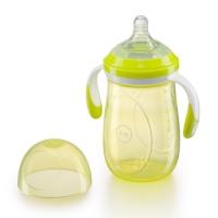 Бутылочка с ручками и антиколиковой соской Happy Baby, 300 мл, Lime 10009L