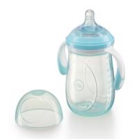 Бутылочка с ручками и антиколиковой соской Happy Baby, 300 мл, Aqua 10009A