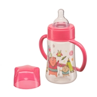 "Бутылочка с ручками Happy Baby ""Baby bottle"", 250 мл., Red 10008R"
