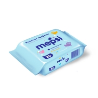 Влажные салфетки, 20 шт, Mepsi 854263