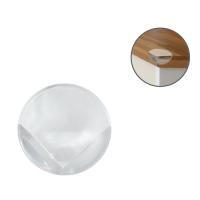 Накладки на углы стола круглые прозрачные, 4 шт, Lubby 13580