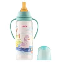 Бутылочка с ручками и латексной соской, 250 мл, Lubby 11389