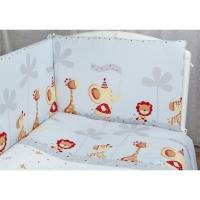Бортик для кроватки Rabby Baby Отряд зверят/серый 115926/5