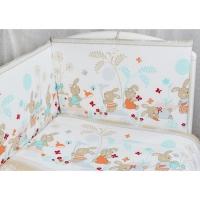 Комплект в кроватку 6 предметов Rabby Baby На лужайке/бежевый 615944/4
