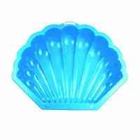 Песочница РАКУШКА (103,5х90х21,5) голубая, КАССОН 5-601