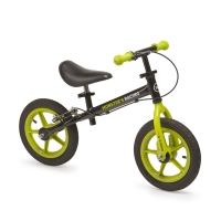 "Беговел с ручным тормозом и надувн. колесами Happy Baby ""U-RUN"" green, арт. 50001"