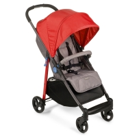 "Прогулочная коляска с чехлом на ножки Happy Baby ""Crossby"" Red"