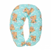 """Подушка многофункциональная для беременных и кормления ГОЛУБАЯ """"Спящие мишки"""" 131852"""