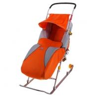 Детские санки-коляска Тимка 2 Комфорт (с колесиками)