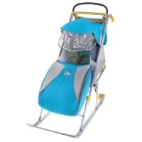 Санки-коляска Ника Детям 2 складные с колесом