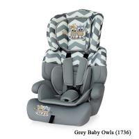 Автокресло Junior plus (от 9 до 36 кг) Серый / Grey Baby Owls 1736