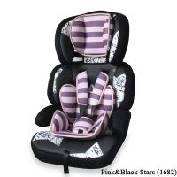 Автокресло Junior Premium (от 9 до 36 кг) Розово-черный / Pink&Black Stars 1682