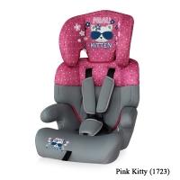 Автокресло Lorelli Junior (от 9 до 36 кг) Серо-розовый / Pink Kitty 1723