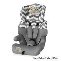 Автокресло Lorelli Junior (от 9 до 36 кг) Серый / Grey Baby Owls 1736