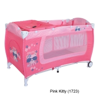 Кровать-манеж Lorelli Danny 2 Розовый / Pink Kitty 1723