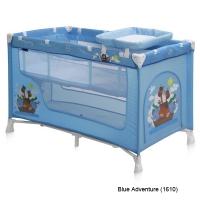 Кровать-манеж Lorelli Nanny 2 Синий / Blue Adventure 1610