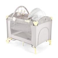 Кровать-манеж 3 в 1 с шезлонгом-качалкой Happy Baby Lagoon V2 Beige